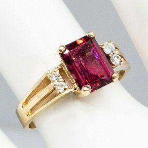 Designer 2.20ct Natural Pink Tourmaline Ring